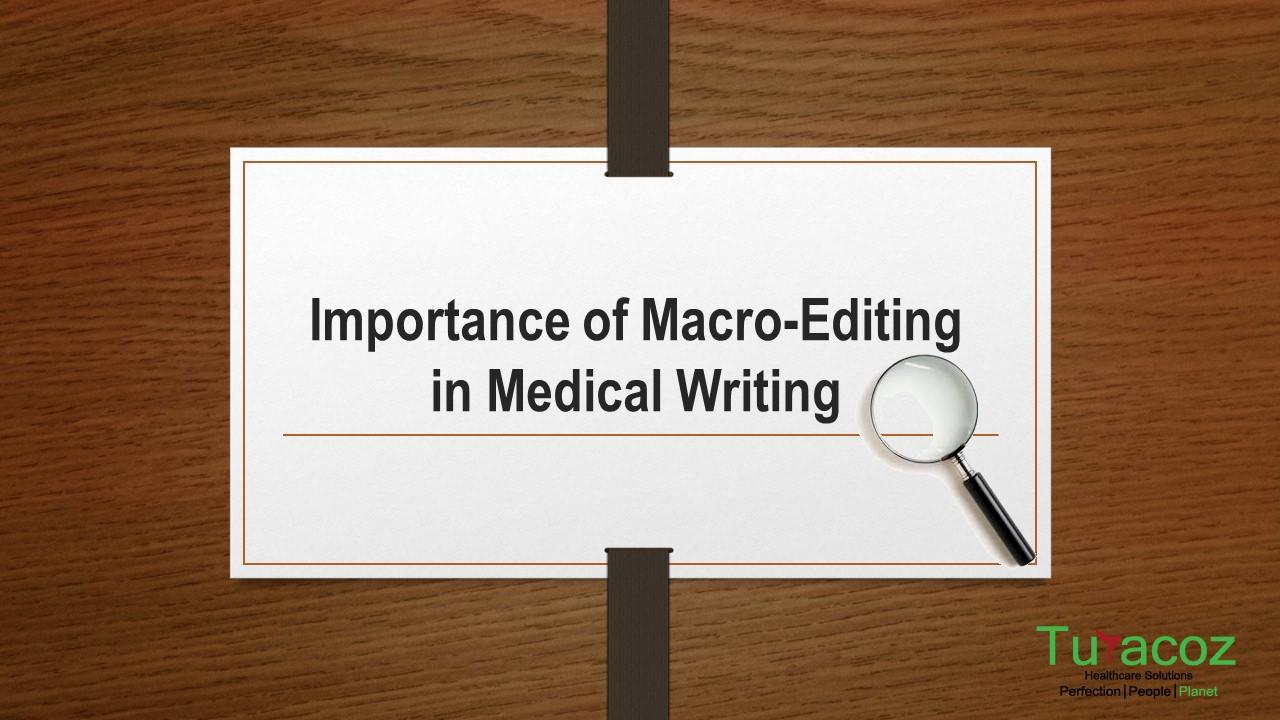 medical writing and editing